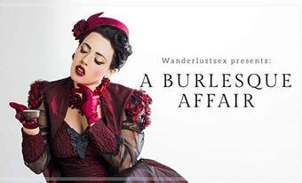 A Burlesque Affair Promotional Flyer