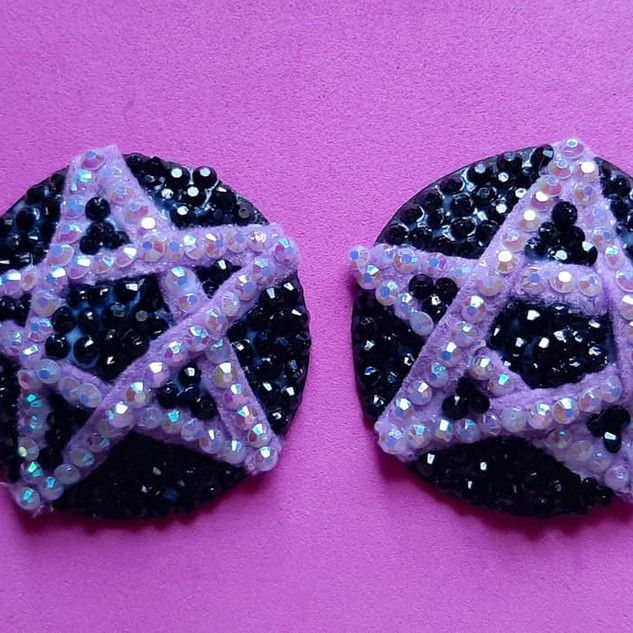 Purple Pentagrams