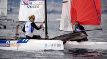 Saxton and Boniface win silver at Sailing World Cup Genoa