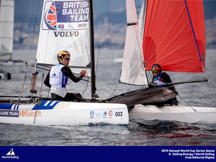 Saxton and Boniface win silver at Sailing World Cup Genoa