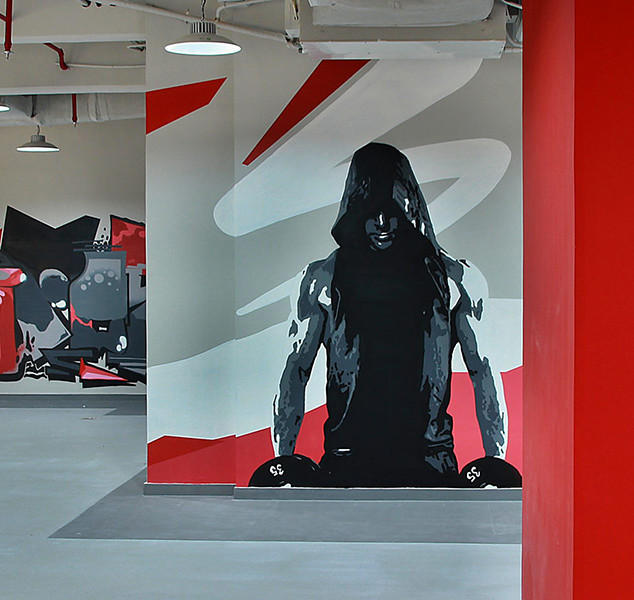 Graffiti Interior - Gym