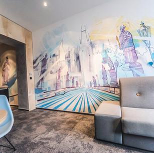 Creative Interior in Hotel Room