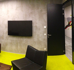 Walldesign in Interior of Technology Company