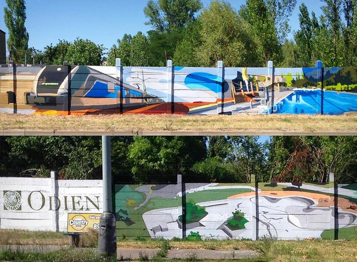 Graffiti malby na stěnu