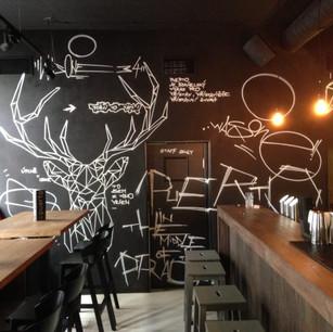 Walldesign in Cafe Bar