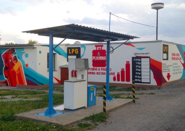Gas Station in Graffiti Art