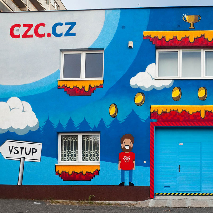 Exteriérová graffiti maba - CZC.cz