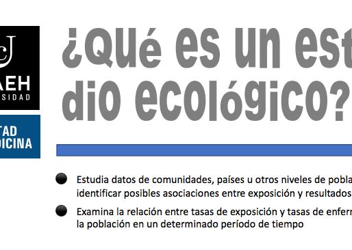 ¿Qué son los estudios ecológicos?