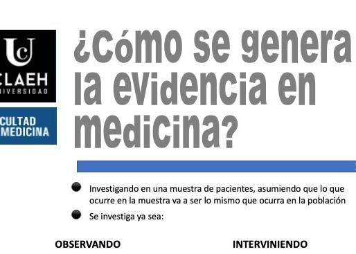 ¿Cómo se genera la evidencia en medicina?