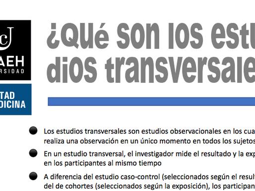 ¿Qué son los estudios transversales?