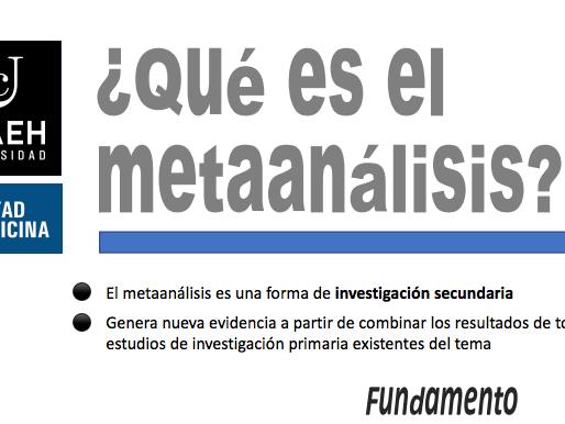 ¿Qué es el metaanálisis?