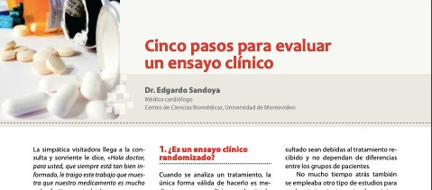 Cinco pasos para evaluar un ensayo clínico