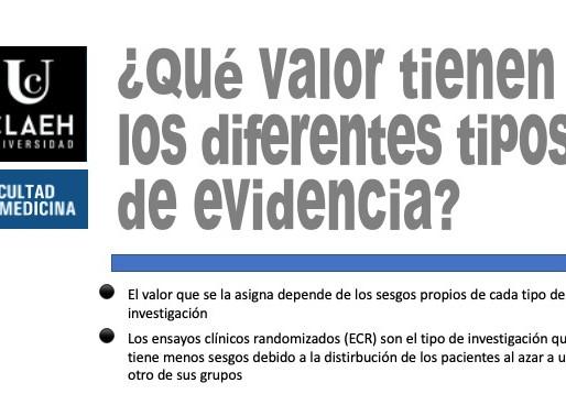 ¿Qué valor tienen los distintos tipos de evidencia?