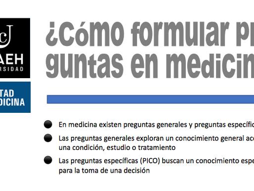 ¿Cómo formular preguntas en medicina?