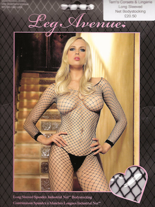 Long Sleeved Spandex Industrial Net Bodystocking