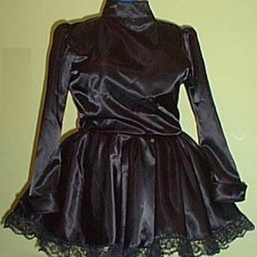 Satin Maids Dress Long Sleeved (Made to Measure)