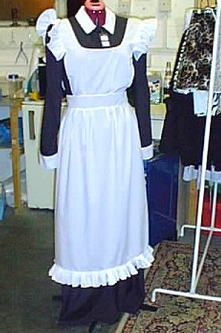Cotton Full Length Parlour Maids Dress with Apron