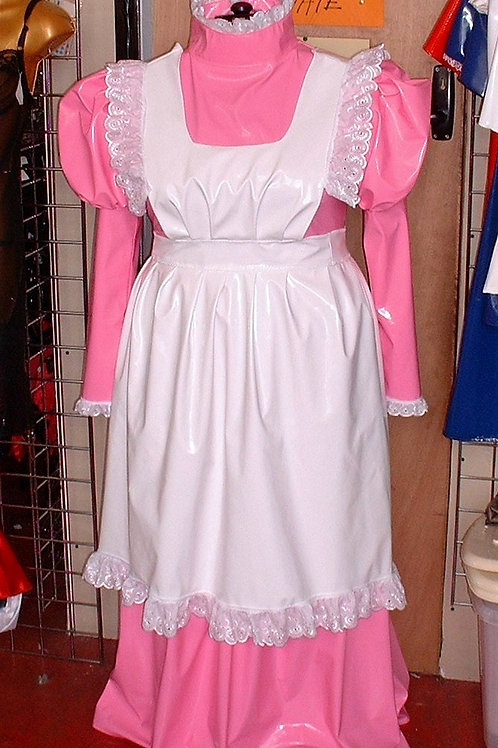 PVC  Full Length Parlour Maids Dress with Apron