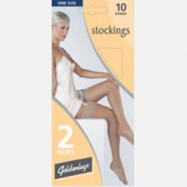 Black 10 Denier Stockings (2 Pack)