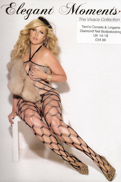 Black Diamond Net Bodystocking