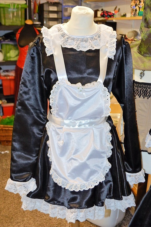Satin Maids 'Up and Over' Apron