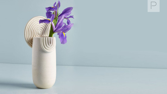 Textured Ivory Vases by Malka Dina
