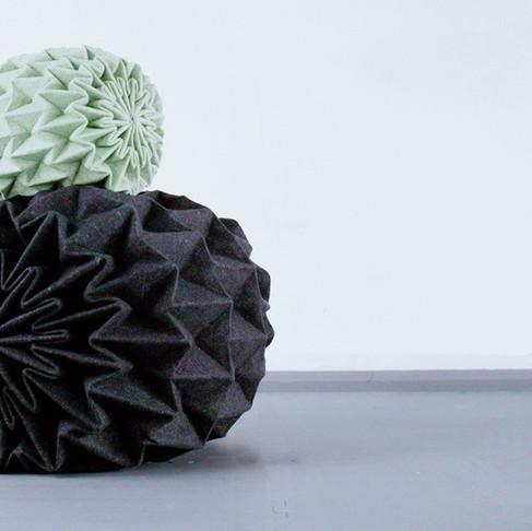 Cones Unfolded Seats by Jule Waibel
