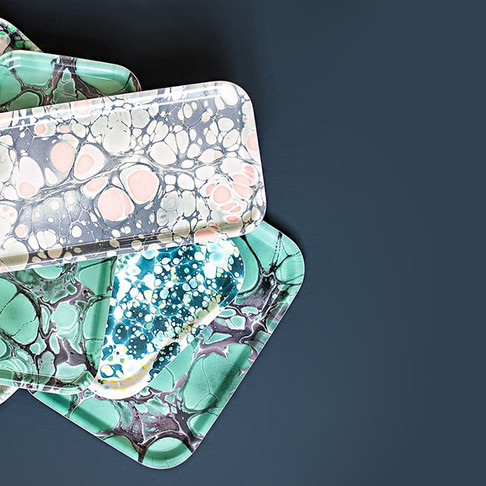 Marbled Serving Trays by Studio Formata