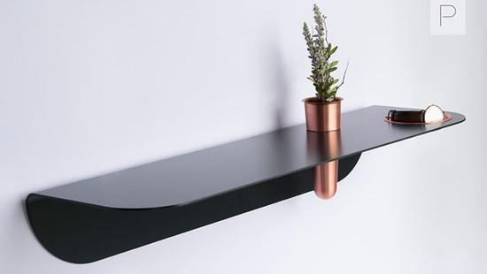 Curve Wall Shelf by Rowan Jackman Design