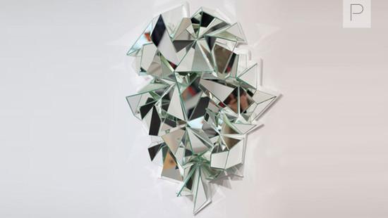 Froisse Mirror by Mathias Kiss