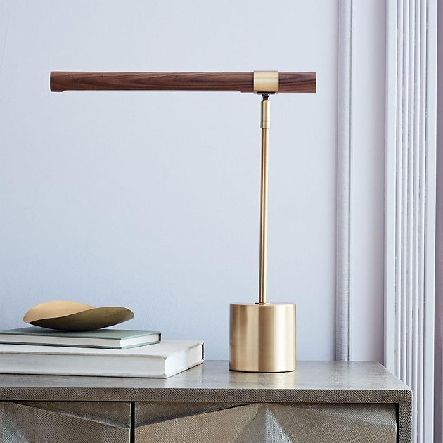 Linear Wood Table Lamp By West Elm