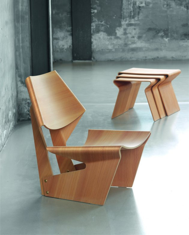 Lange Side Table.Gj Chair Table By Grete Jalk For Lange Production