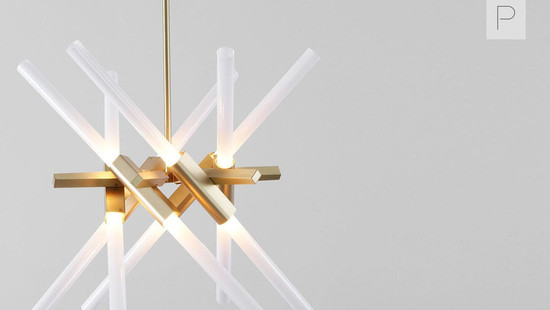 Astral Agnes Chandelier 12 Bulb by Lindsey Adelman for Roll & Hill