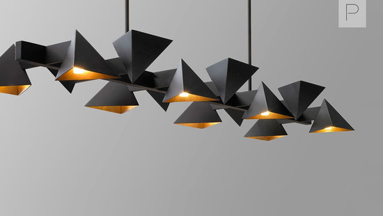 Vichy Linear Chandelier by Jonathan Browning Studios