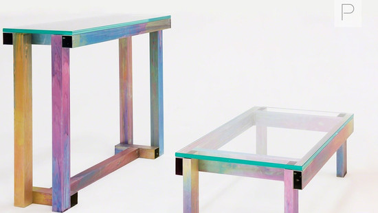 Anodized Tables by Fredrik Paulsen for Etage Projects for Salon Art