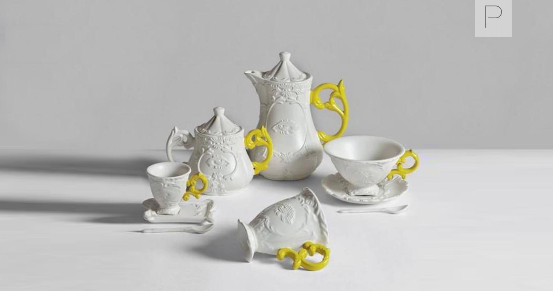 Yellow Seletti I-Ware Teacup Set