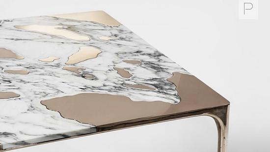 Marble vs.Bronze Table by Studio GT2P