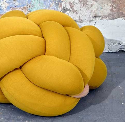 Knot Cushions & Stools by Knots Studio