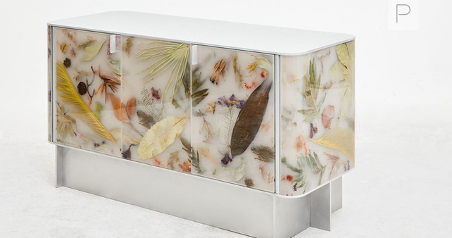 Flora Credenza 152 White by Marcin Rusak Studio