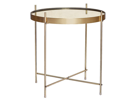 Gold Mirrored Top Table by Hubsch