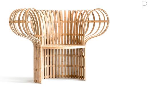 The Indigo-Dyed Bamboo Chair by Jin Kuramoto