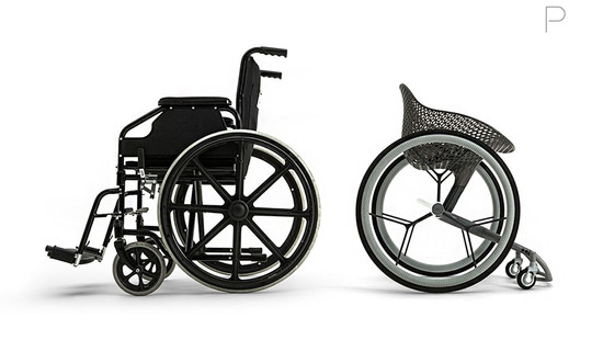 Go 3D Printed Wheelchair by Layer Design for Materialise