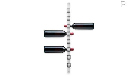 Wall-Mounted Wine Bottle Holder by Floz Design