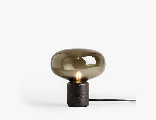 Karl-Johan Table Lamp – Black Marquina W. Smoked Glass by Signe Hytte