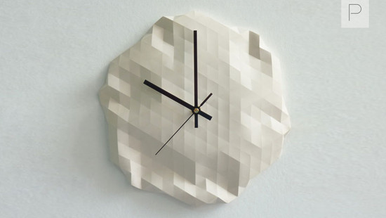 Faceted Wall Clock by Raw Design