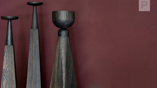 Wooden Tableware Collection by Arno Declercq for Collection Particuliere