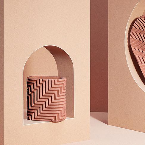 Herringbone Objects by Phil Cuttance