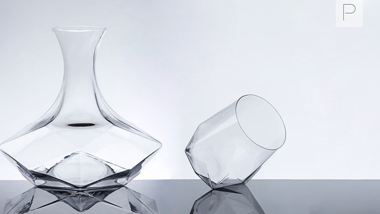 Faceted Crystal Glassware by Ryan Hume