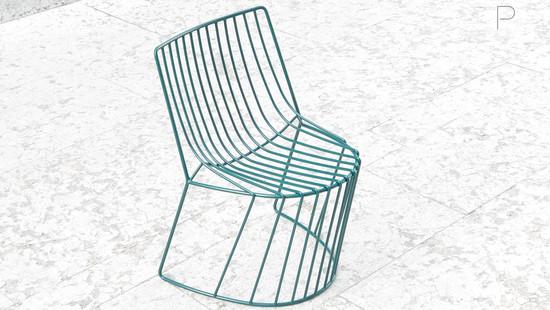 Amarone Chair by Enrico Girotti for Lapiega Wire Design
