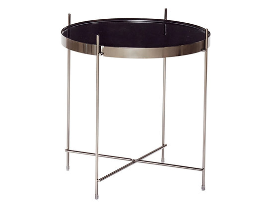 Black Mirrored Top Table by Hubsch